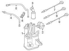 2013 Volkswagen Beetle Air filter. Aircleaner. Evaporative emissions system leak detection pump