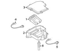 Volkswagen Passat Crankshaft sensor. Engine crankshaft position sensor. Sender. 2.0 liter