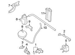 Volkswagen Golf Changeover valve. Evaporative Emissions