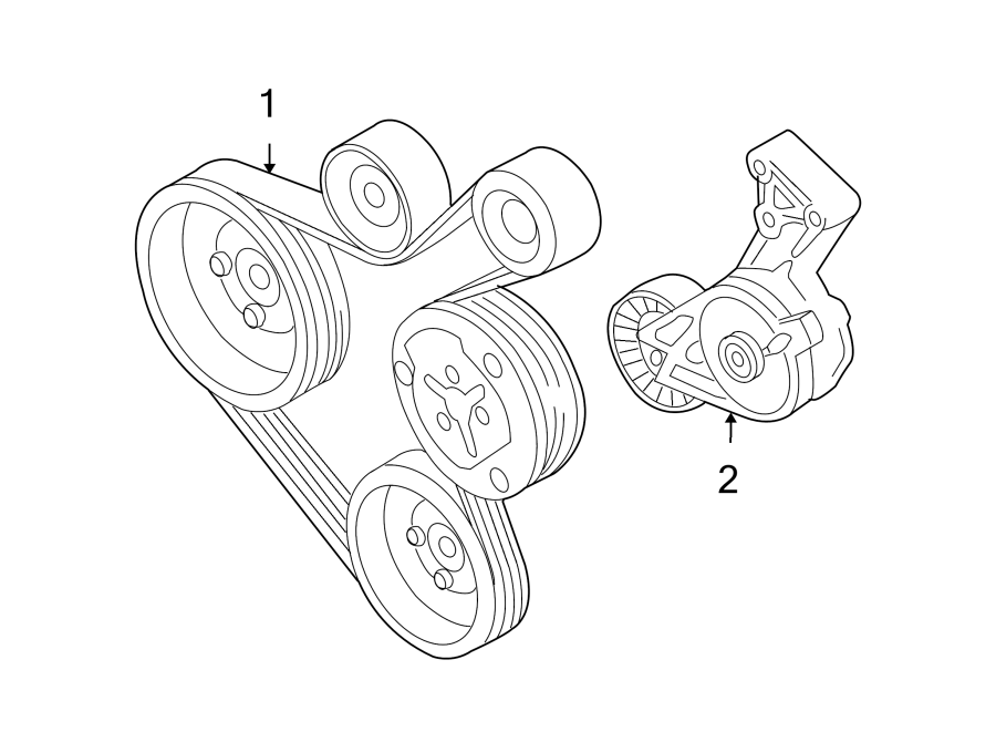 Volkswagen Beetle Accessory Drive Belt Tensioner Assembly