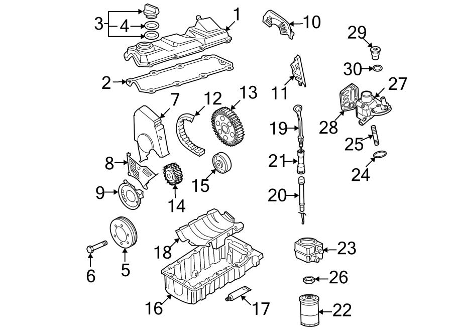 Volkswagen Beetle Engine Valve Cover. 2.0 LITER. 2.0 LITER