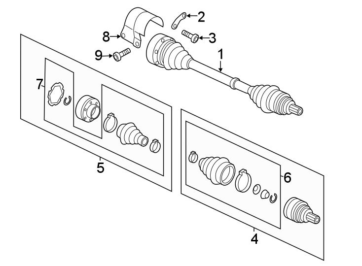 Volkswagen Beetle Convertible Cv joint kit. Trans, manual