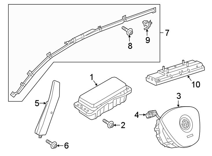 Volkswagen Arteon Air Bag Wiring Harness. AIR BAGS, w