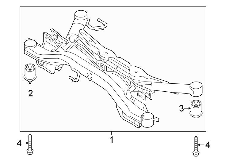 Volkswagen Arteon Suspension Crossmember Insulator. AWD