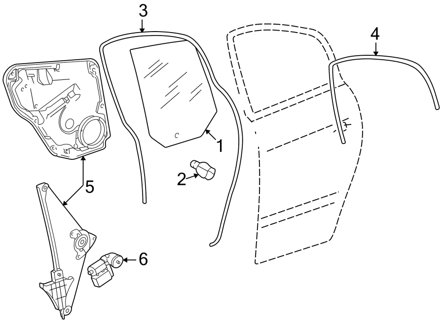 Volkswagen Passat Wagon Guide. Channel. Window. (lower