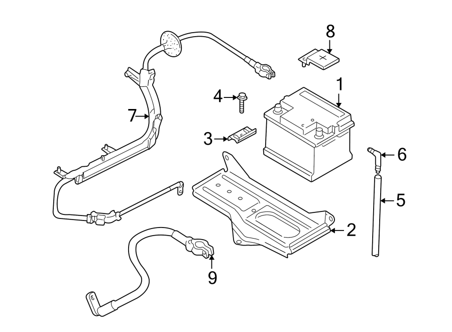 Volkswagen Passat Vent. Battery. Tube. 2007-09. 2010-13