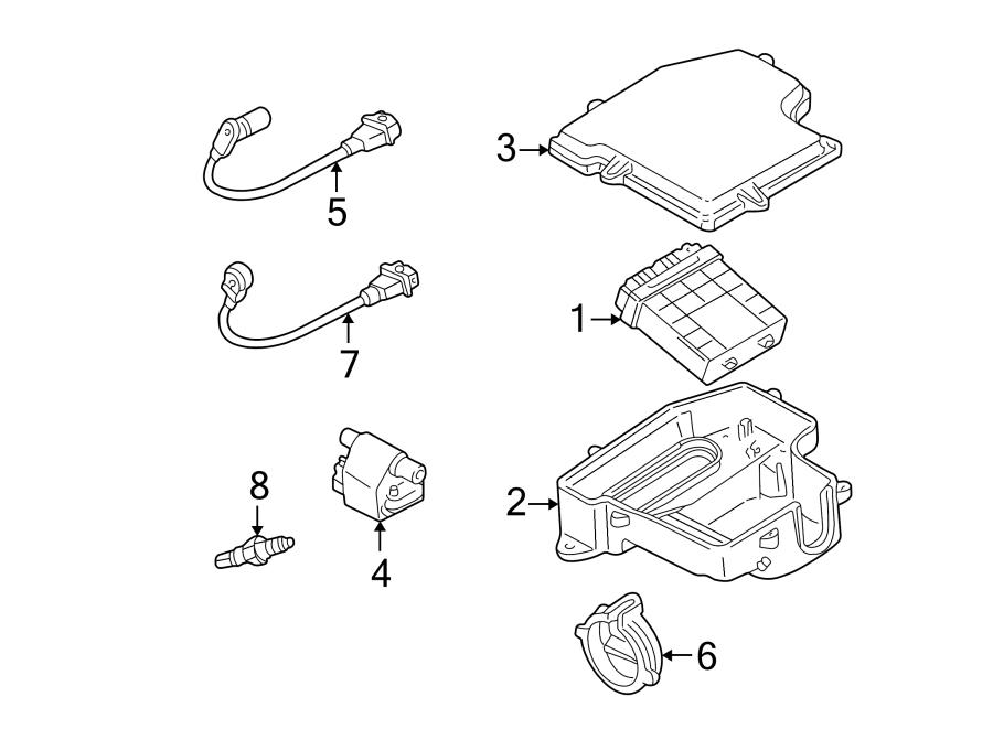 Volkswagen Passat Engine Control Module. 4.0 LITER, manual
