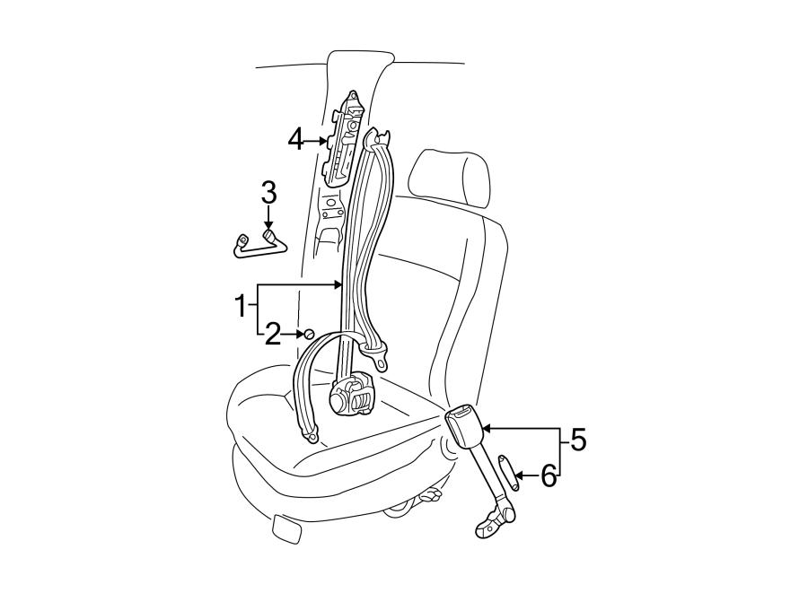 Volkswagen Passat Seat Belt Guide. NEW STYLE,. Front