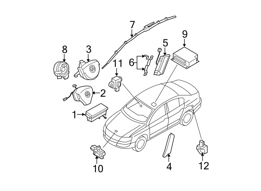 Volkswagen Passat Air Bag Control Module. Make, Replace