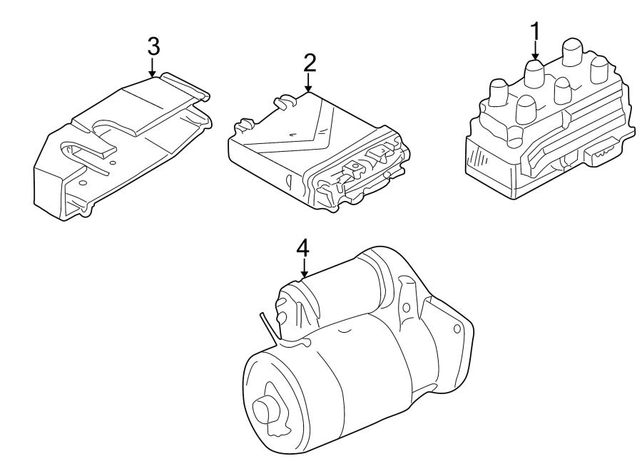 Volkswagen EuroVan Starter Motor. Trans, Manual, LITER