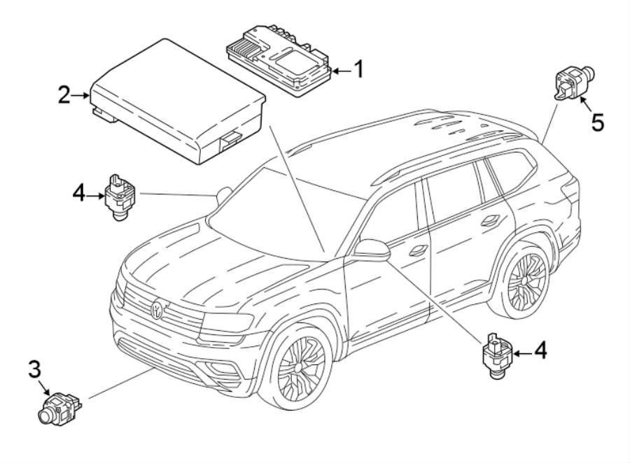Volkswagen Tiguan Module. Control. CONTOUR. UNIT. Parking
