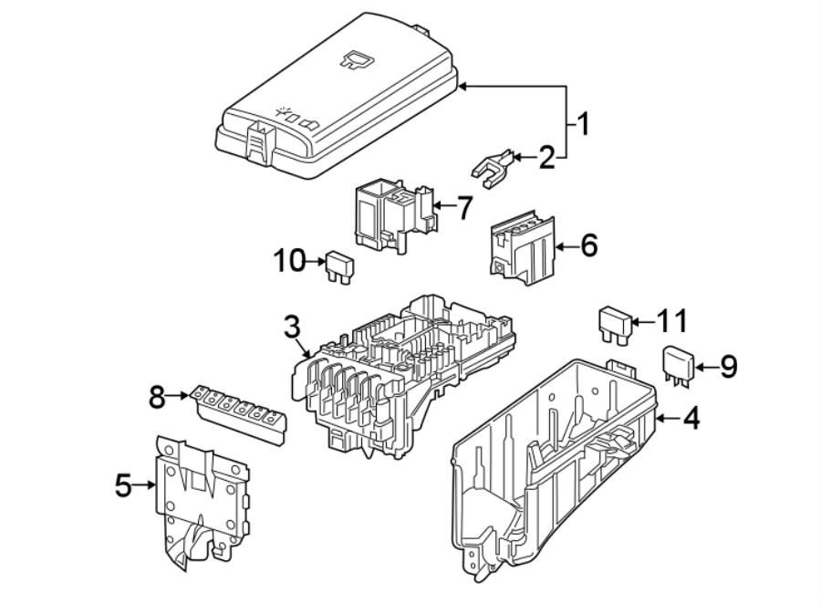 Volkswagen SportWagen Relay Box. ENGINE, COMPARTMENT