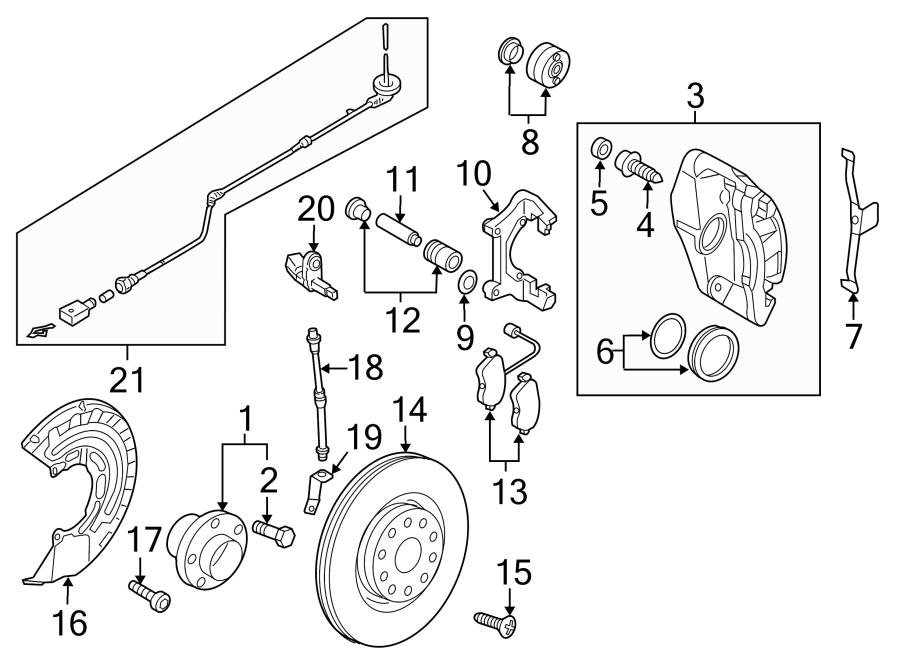 Volkswagen Golf R Abs wheel speed sensor wiring harness