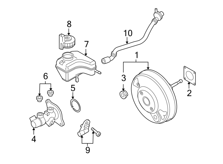 Volkswagen Golf Brake Vacuum Hose. ATE, 2.5 liter. BOSCH