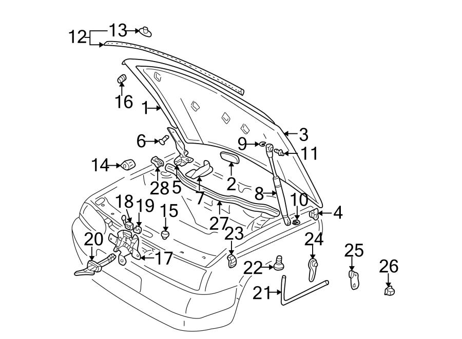 Volkswagen Golf Hood Lift Support. Strut, Replace