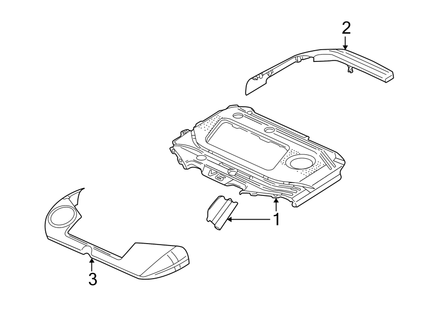 Volkswagen Golf Engine Cover. 1999-02, #1. 2.8 LITER, W/O