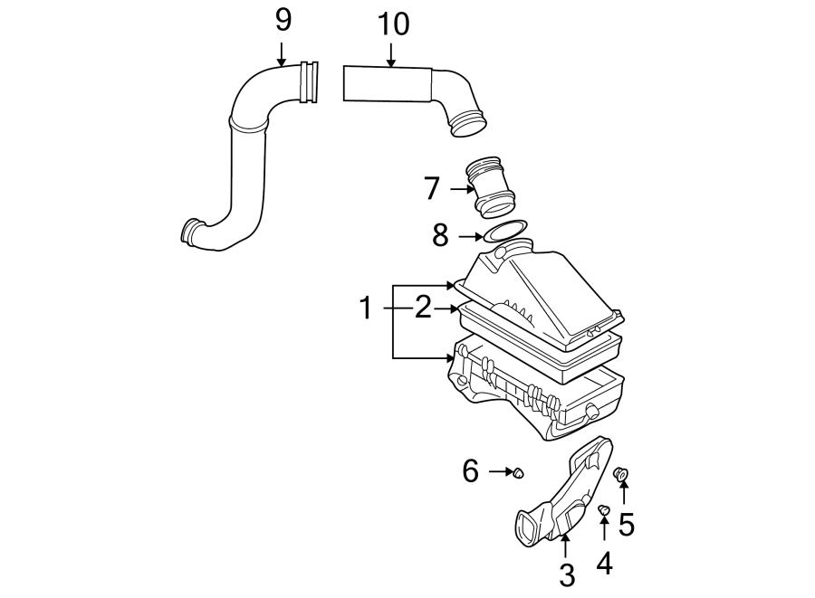 Volkswagen Jetta Wagon Engine Air Intake Hose. 1998-2003