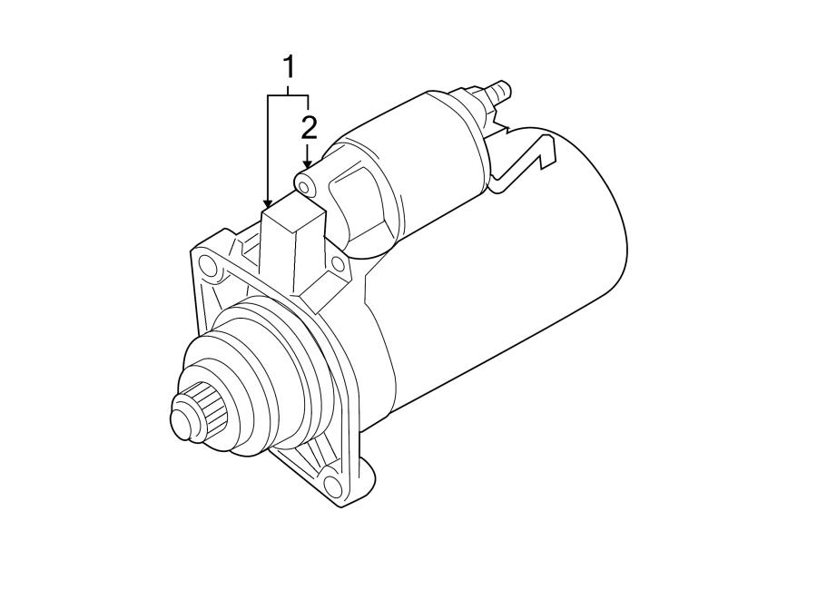 Volkswagen SportWagen Starter Motor. Remanufactured, LITER