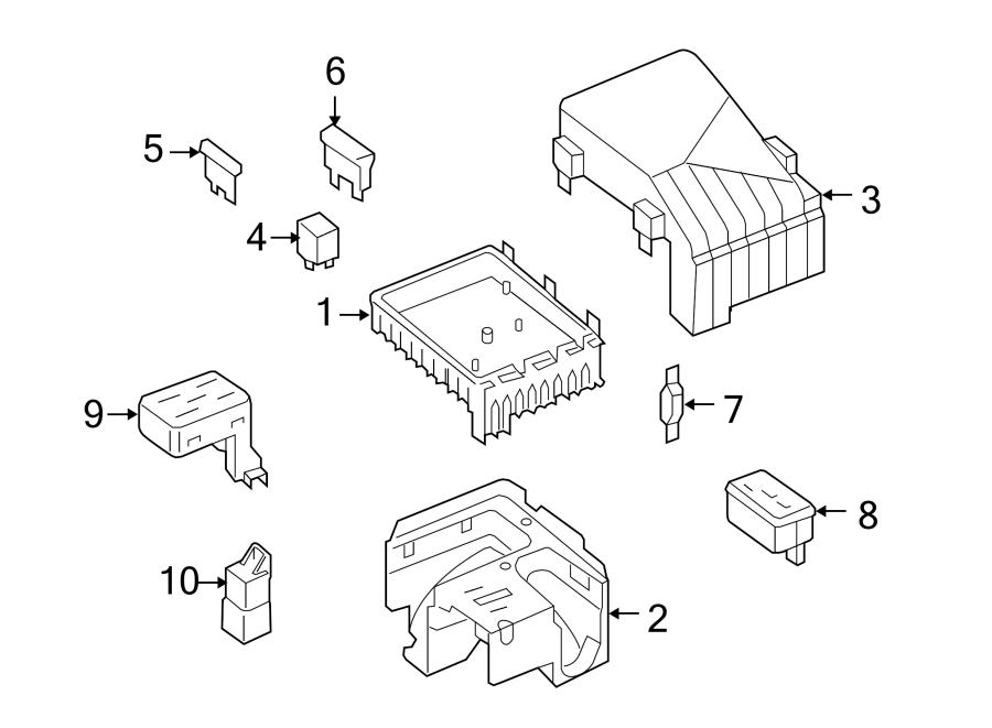 Volkswagen SportWagen Housing. Connector. Fuse. And relay