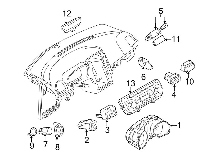 Volkswagen Jetta Wagon Ambient Light Sensor. From 7/10/09