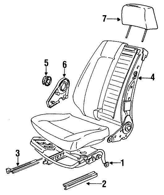 Volkswagen Jetta Adjust cover. Adjuster. Restraint