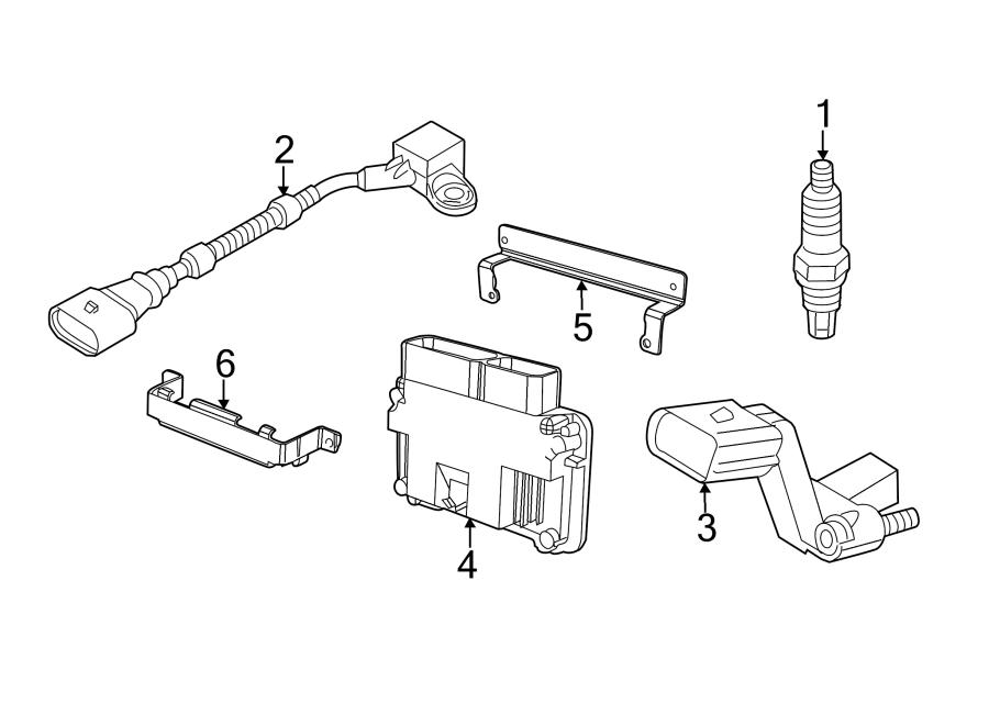 Volkswagen Jetta Engine Control Module. 2.0 LITER, DIESEL