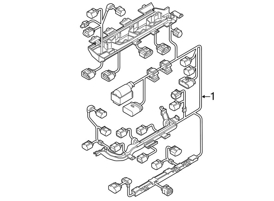 Volkswagen Jetta Hybrid Engine Wiring Harness. 1.4 LITER