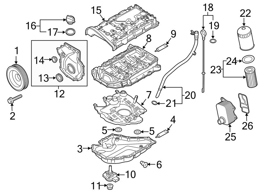 Volkswagen Jetta Engine Timing Cover. LITER, VIN, BEARINGS