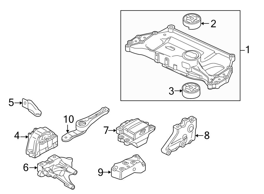 Volkswagen Jetta Engine Mount Bracket. LITER, DIESEL