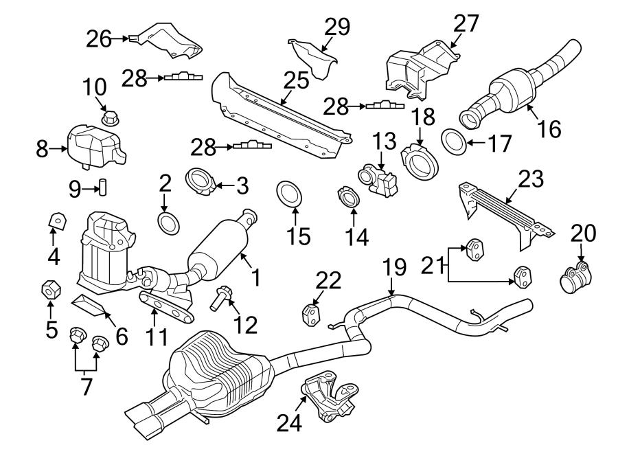 Volkswagen Jetta Muffler AND pipe. 2011-14. Jetta; 2.0L