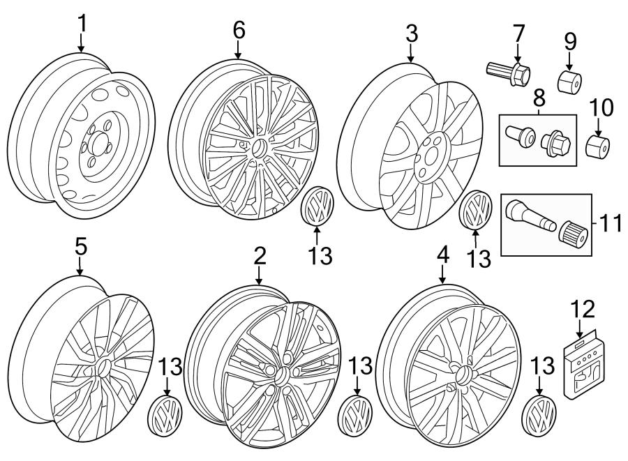 Volkswagen Jetta Wheel. Notice, Code, Repair