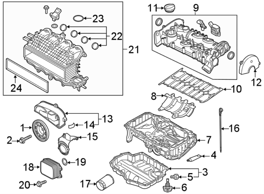 Volkswagen Jetta Engine Oil Cooler Gasket. Oil cooler seal