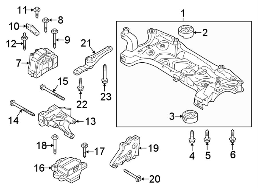 Volkswagen Jetta Engine Mount. Trans, Manual, BEARINGS
