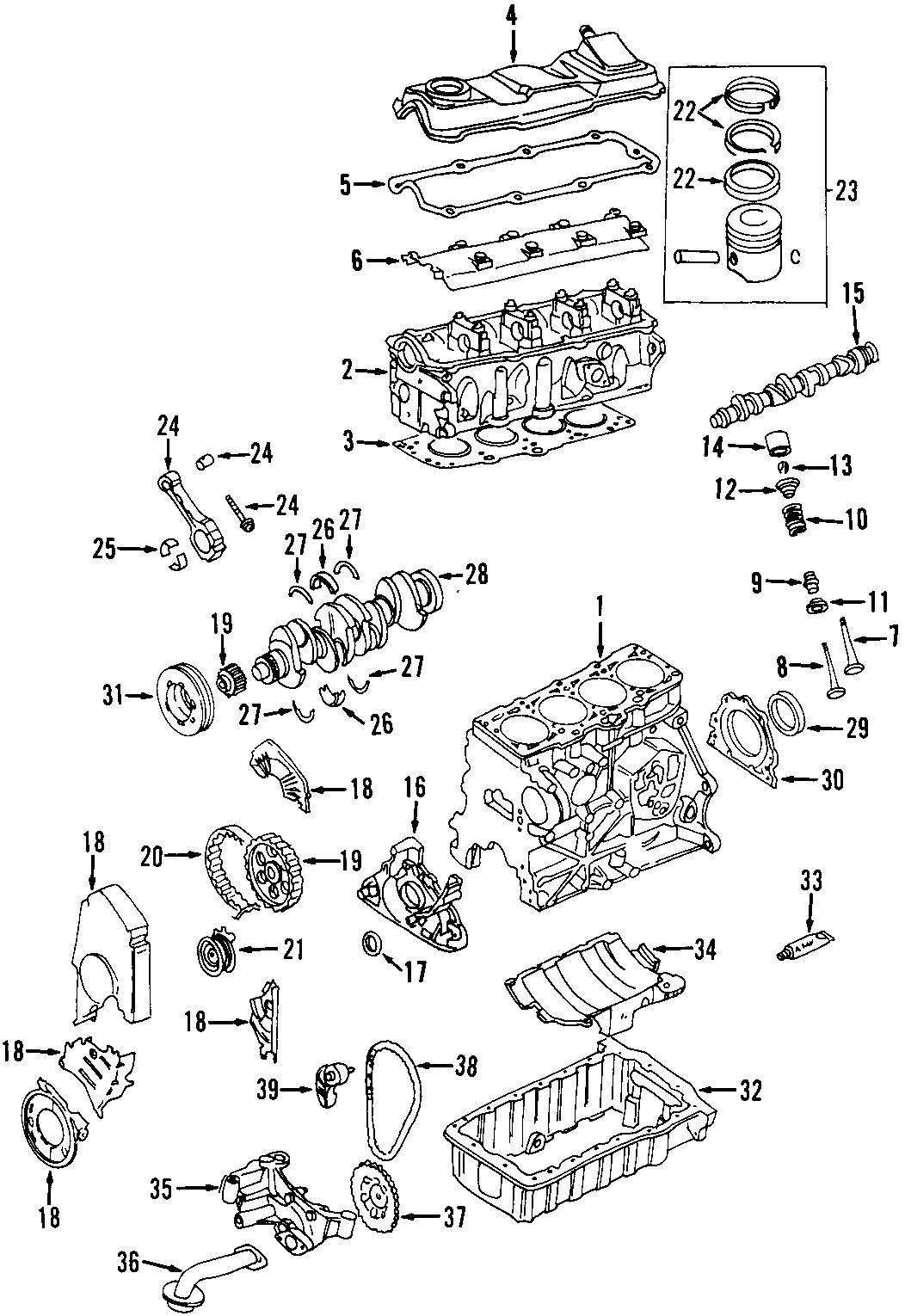 Volkswagen Beetle Engine Timing Chain Along Bearings
