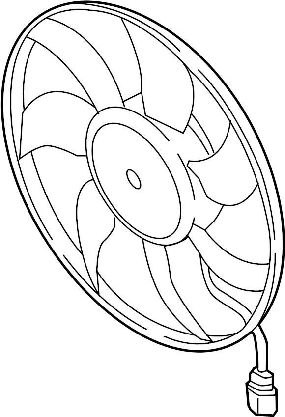 Volkswagen GTI Engine Cooling Fan Assembly. MAGNA, BROSE
