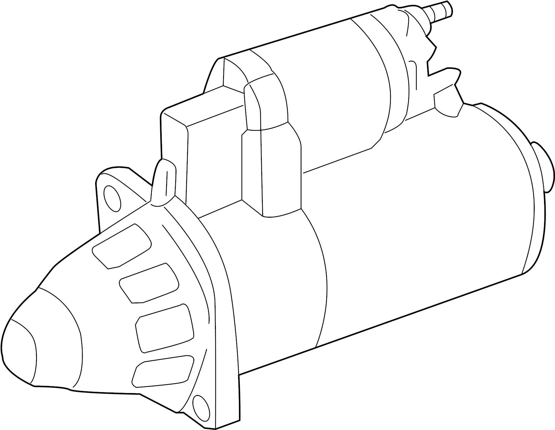 Volkswagen Passat Starter Motor. Trans, Auto, Manual