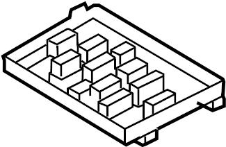 Volkswagen Jetta GLI Housing. Relay. Fuse. A component