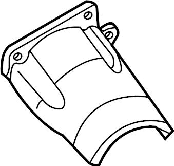 Volkswagen Passat Cv joint splash shield. Trans, manual