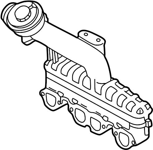 Volkswagen Jetta Engine Intake Manifold. Trans, Auto