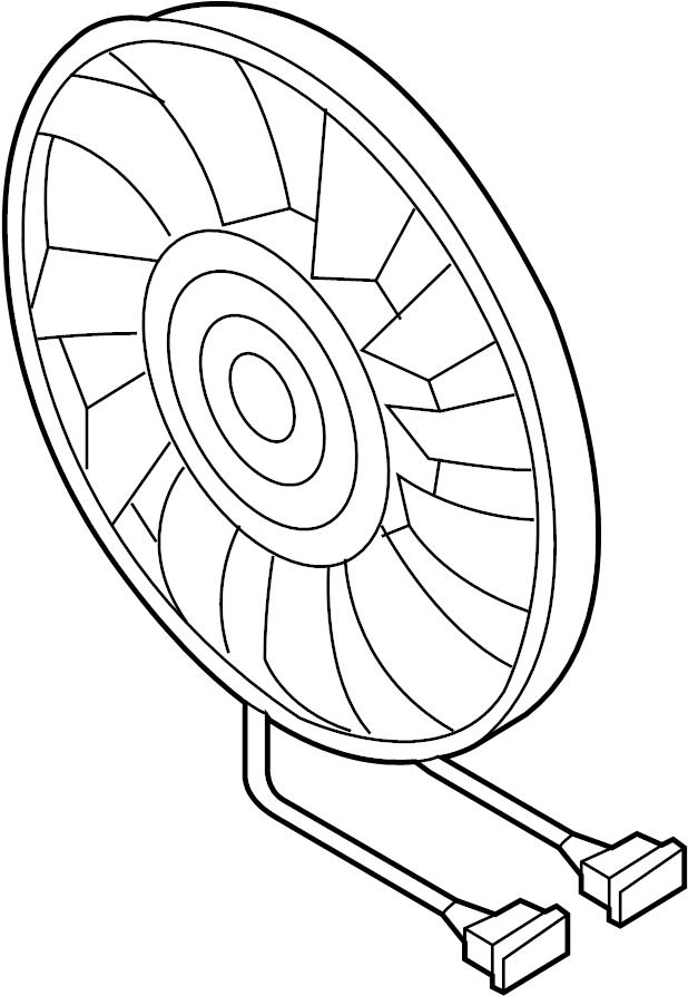 Volkswagen Passat Engine Cooling Fan Motor. Left, Trans