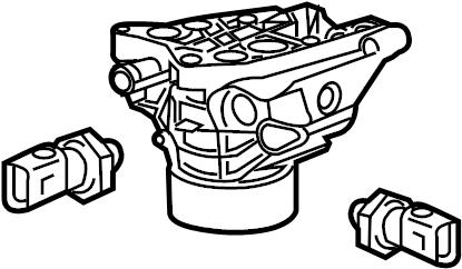 Volkswagen Jetta Engine Oil Filter Housing. LITER, DIESEL