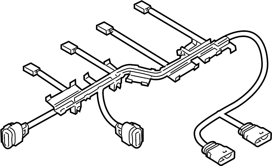 Volkswagen Jetta Engine Wiring Harness. Fuel Injector
