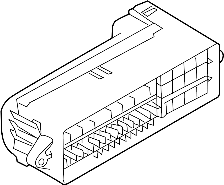 Volkswagen Beetle Convertible Fuse box main. Fuse Holder