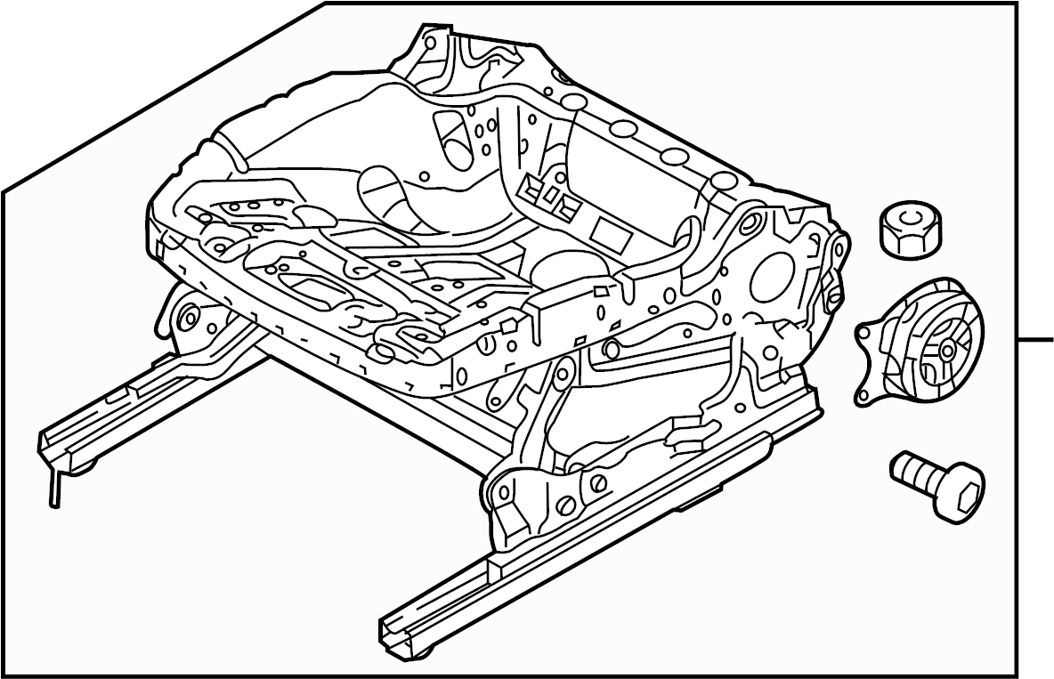 Volkswagen Tiguan Seat Track. SEAT CUSHION, MANUAL SEAT
