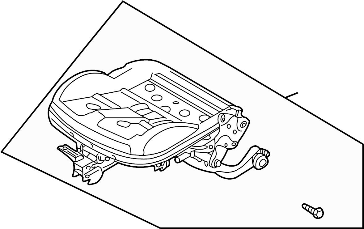 Volkswagen Passat Wagon Seat Frame. Manual, VIN, Left