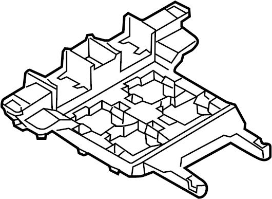 Volkswagen CC Relay Box. PASSENGER COMPARTMENT, 2009-2012