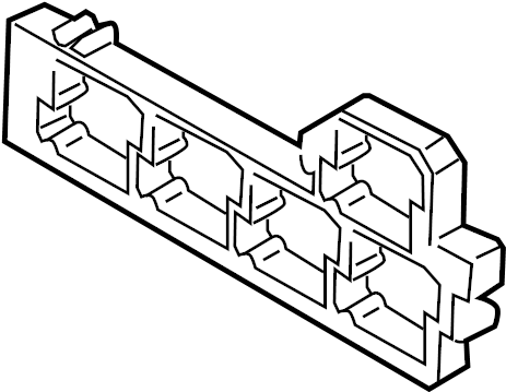 Volkswagen Passat Relay Box. PASSENGER, COMPARTMENT, Upper