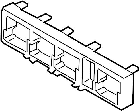 Volkswagen CC Relay Box. Lower, PASSENGER, COMPARTMENT