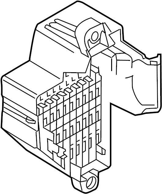 Volkswagen CC Fuse Holder. PASSENGER COMPARTMENT, 2009