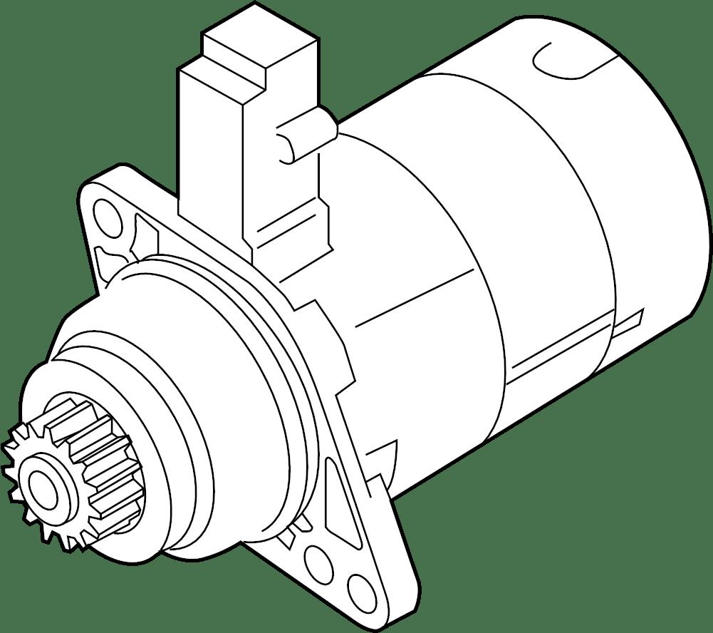 Volkswagen Jetta Starter Motor. Trans, LITER, Manual